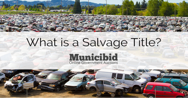 What is a Salvage Title  Municibid Blog