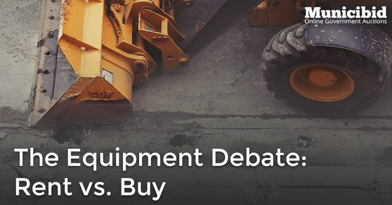 rent or buy equipment