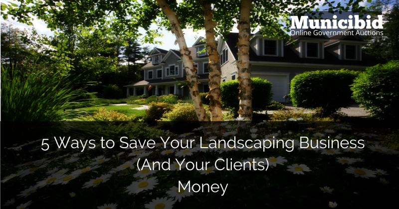 save money landscaping business