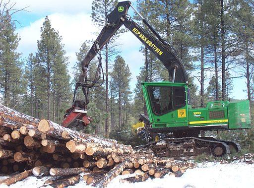 John Deere forestry harvester